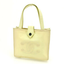 Chanel Tote bag COCO Yellow Green Woman Authentic Used Y3448