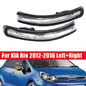 2pcs Rear View Mirror Light LED Turn Signal Lamp Indicator For Kia Rio 2012-2016