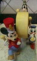 LN Walt Disney Collectible Retired Figurine.Mickey Donald&Goofy In Marching Band