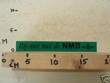 STICKER,DECAL NMB RIJ MEE MET DE NMB WEGRACE MOTOCROSS