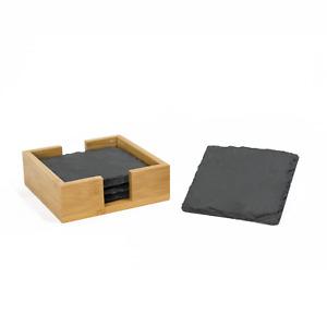 Schiefer Untersetzer Set Tischuntersetzer Glasuntersetzer rund quadratisch