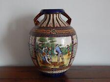 ANCIEN VASE Céramique HB QUIMPER La Hubaudière Décor THEOPHILE DEYROLLE Début XX