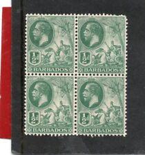 Barbados GV 1912-16, Block 1/2d green sg 171 NHM