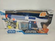 Star Wars The Clone Wars Clone Trooper Blaster Game Blaster Plugs in TV Open Box