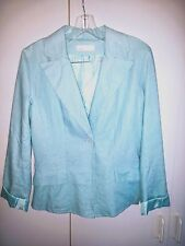 OXMO LADIES LOVELY JACKET/BLAZER-M-LINEN/VISCOSE-WORN ONCE-MADE IN DENMARK-NICE