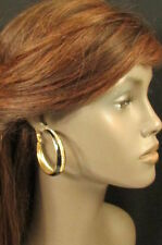 New Women Earrings Set Dangle Fashion Casual Hoops Black Gold Metal Rhinestones