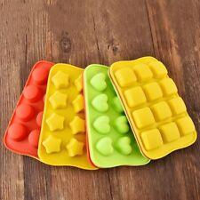 Silicone Mold Chocolate Ice Cube Tray Fondant Molds Diy Cake Decor Mould 12 Grid