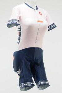 "Castelli ""LA Sweat"" Women's Cycling Skinsuit Size Large Short Sleeve Pink/White"