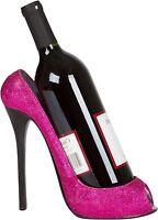 High Heel Wine Bottle Holder Modern Pink Shoe Bar Decor Display Stand Gift New