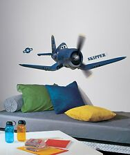 SKIPPER GiaNT WALL DECALS Disney Planes Stickers Boys Airplanes Kids Room Decor