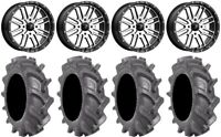 """MSA Machined Brute 18"""" Wheels 33"""" BKT AT 171 Tires Kawasaki Mule Pro FXT"""