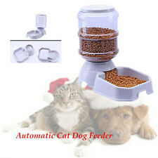 3.8L Automatic Plastic Cat Feeder Pet Dog Water Dispenser Travel Food Dish Bowl