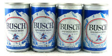 Qty. 4 - Busch Beer Can 1970's Aluminum Steel Top Opened 12 fl oz Free Shipping