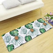 Tropical Monstera Banana Leaves Rose Daisy Flower Rectangle Rug Floor Door Mat