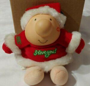 Vintage Ziggy Plush Doll Christmas Santa I Love You Red White Tom Wilson 1987