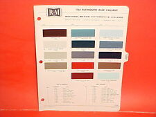 1964 PLYMOUTH VALIANT BARRACUDA SPORT FURY CONVERTIBLE BELVEDERE PAINT CHIPS 64