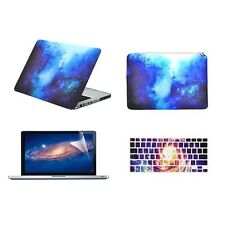 "BLUE Galaxy Graphic Case for Macbook Pro 13"" A1278 + Keyboard Cover + LCD + Bag"