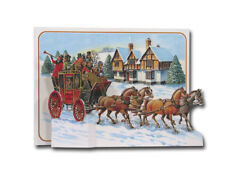 Stage Coach - Pictoria Press 3D Pop Up Christmas Greeting Card - Decoration