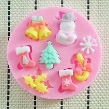 Christmas Silicone Mold Mould For Fimo Resin Polymer Clay Sugarcraft Fondant 1PC