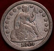1849 Silver Philadelphia Mint Seated Liberty Dime