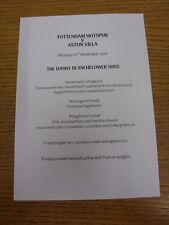 21/11/2011 Tottenham hotpsur V Aston Villa-La corrispondenza Danny blanchflower Suite