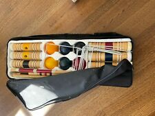 Deluxe Series Croquet Set, Durable Nylon Carrying Bag, 2-6 Players Leisure & Fun