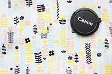 Floral Cotton Fabric, Distrikt by Erin McMorris Westminster Peach Mint 0.5 Metre
