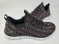 NEW! Skechers Women's 2.0 INSIGHTS Walking Shoes Black/Rose Gold #12765 145L tz