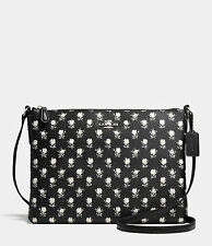 Coach The Americana Cross-Body in Floral-Print Canvas 35453 SV/Black Parchment