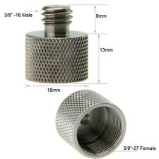 "CAMVATE Microphone 5/8""-27 Female to 3/8""-16 Male Adapter Screw fr Camera Studio"