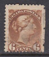 "Canada Scott #39  6 cent yellow brown ""Small Queen"""