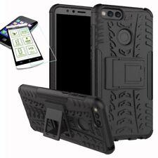 Hybrid Case Tasche Outdoor 2teilig Schwarz für Huawei Honor 7X Hülle Panzerglas