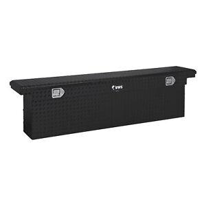 """UWS Gloss Black Aluminum 69"""" Deep Slim Truck Tool Box Low Pro TBSD-69-SL-LP-B"""