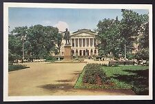 LENINGRAD Arts Square POSTCARD Statue of Pushkin RUSSIA Printed in USSR 771
