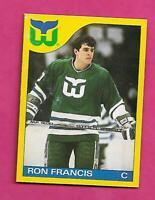 RARE 1985-86 OPC # F WHALERS RON FRANCIS BOX BOTTOM CARD (INV# C5293)