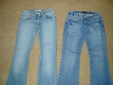"Lot of 2, Stylish, ""LADIES DENIM JEANS"", Mavi & Aerpostale, size 26 waist x 32"""