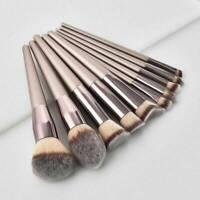 10Pcs Make Up Brushes Set Professional Foundation Powder Blending Brushes UK~