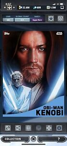 Topps Star Wars Digital Card Trader Blue Rise Of The Empire Obi-Wan Insert