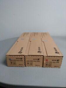 Genuine OEM Lof of 3 Xerox Color Toner Cartridges 700 Digital Color and J75 C75