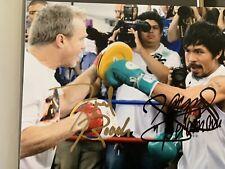 Manny Pacquiao & Freddie Roach Boxing Dual Signed Photo 10x8 - PSA LOA ***RARE