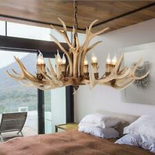 Vintage Antler Chandelier Light Deer Horn Restaurant Pendant Lamp 4/6/8Light