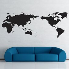 World map vinyl wall stickers ebay world map wall stickers art vinyl decal home decor removable mural free postage gumiabroncs Choice Image