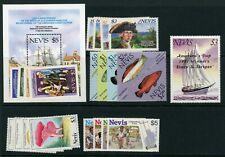 Nevis 1987 complete SG 466-492 UM/MNH