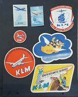 VINTAGE KLM ROYAL DUTCH AIR LINES DECAL AIRLINE DECALS - NOT A STICKER