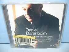 Bach THE WELL-TEMPERED CLAVIER, BOOK II, Daniel Barenboim-piano 3CD Warner New