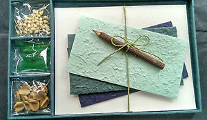 Exquisite Gift Letter/Writing Stationery Set/Handmade Mulberry Paper/Shamrock