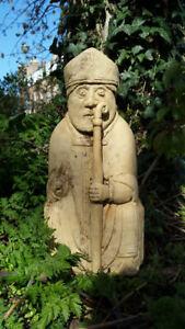 Large Cast Stone Lewis Chessman Bishop Garden Ornament