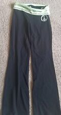 Girls Justice glitter band and peace sign leggings 10 pre-owned
