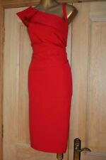 COAST ~ELLA~ RED FITTED EVENING SPECIAL OCCASION PENCIL PARTY DRESS SIZE 18 BNWT