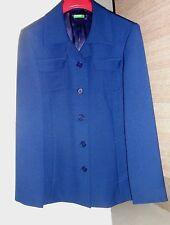 Giacca Benetton Trench blu ragazza bambina 13/14 tg 38 giubbotto cappotto